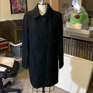 Worthington Black Side-Zip Pea Coat